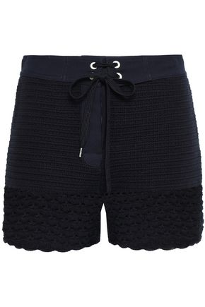 REDValentino Crocheted cotton shorts