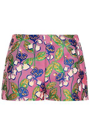 REDValentino Floral-print jacquard shorts