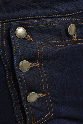 REDValentino Button-detailed denim shorts