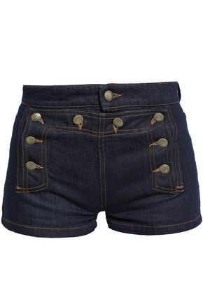 REDValentino Button-detailed denim shorts