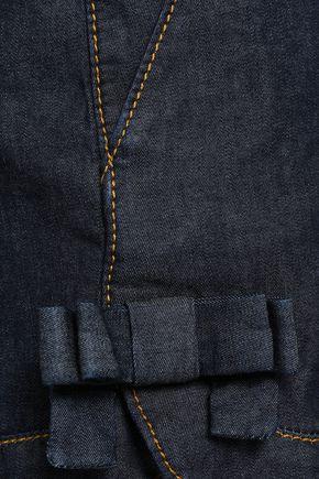 REDValentino Bow-embellished denim shorts