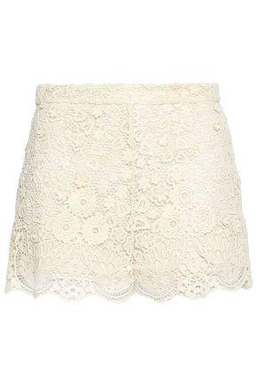 REDValentino Guipure lace cotton shorts