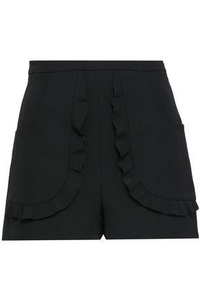 REDValentino Ruffled twill shorts