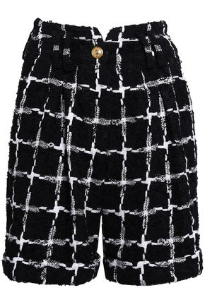 BALMAIN Checked jacquard shorts