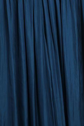 HALSTON HERITAGE Pleated satin jumpsuit