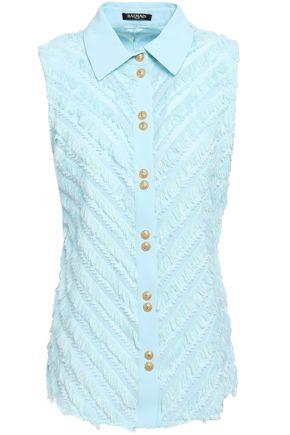 BALMAIN Fil coupé cotton-gauze shirt