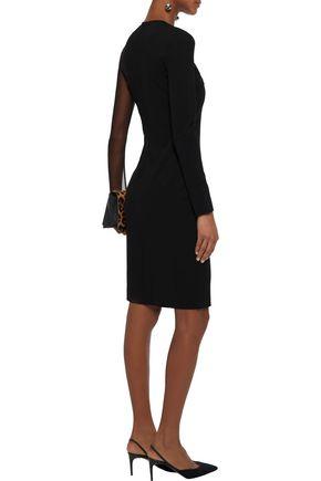 STELLA McCARTNEY Tulle-paneled stretch-jersey dress
