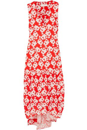 BORGO DE NOR Floral-print crepe midi dress