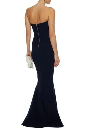 REBECCA VALLANCE Dana strapless stretch-crepe gown