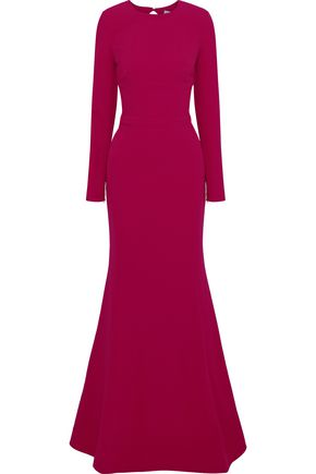 REBECCA VALLANCE Bree open-back crepe gown