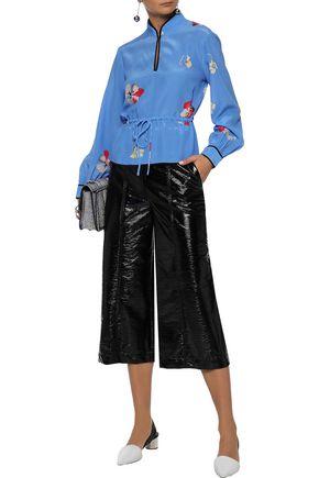 adbf4e785d52b GANNI Joycedale floral-print washed-silk blouse