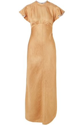 ZIMMERMANN Cutout ribbed satin maxi dress