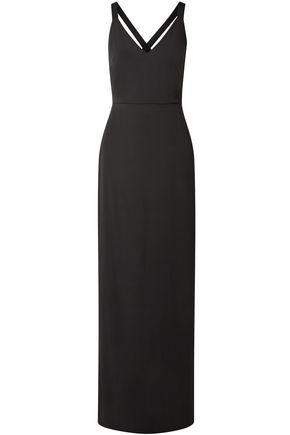 ALICE + OLIVIA Open-back crepe maxi dress