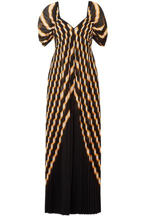 BY MALENE BIRGER Pleated metallic chiffon maxi dress