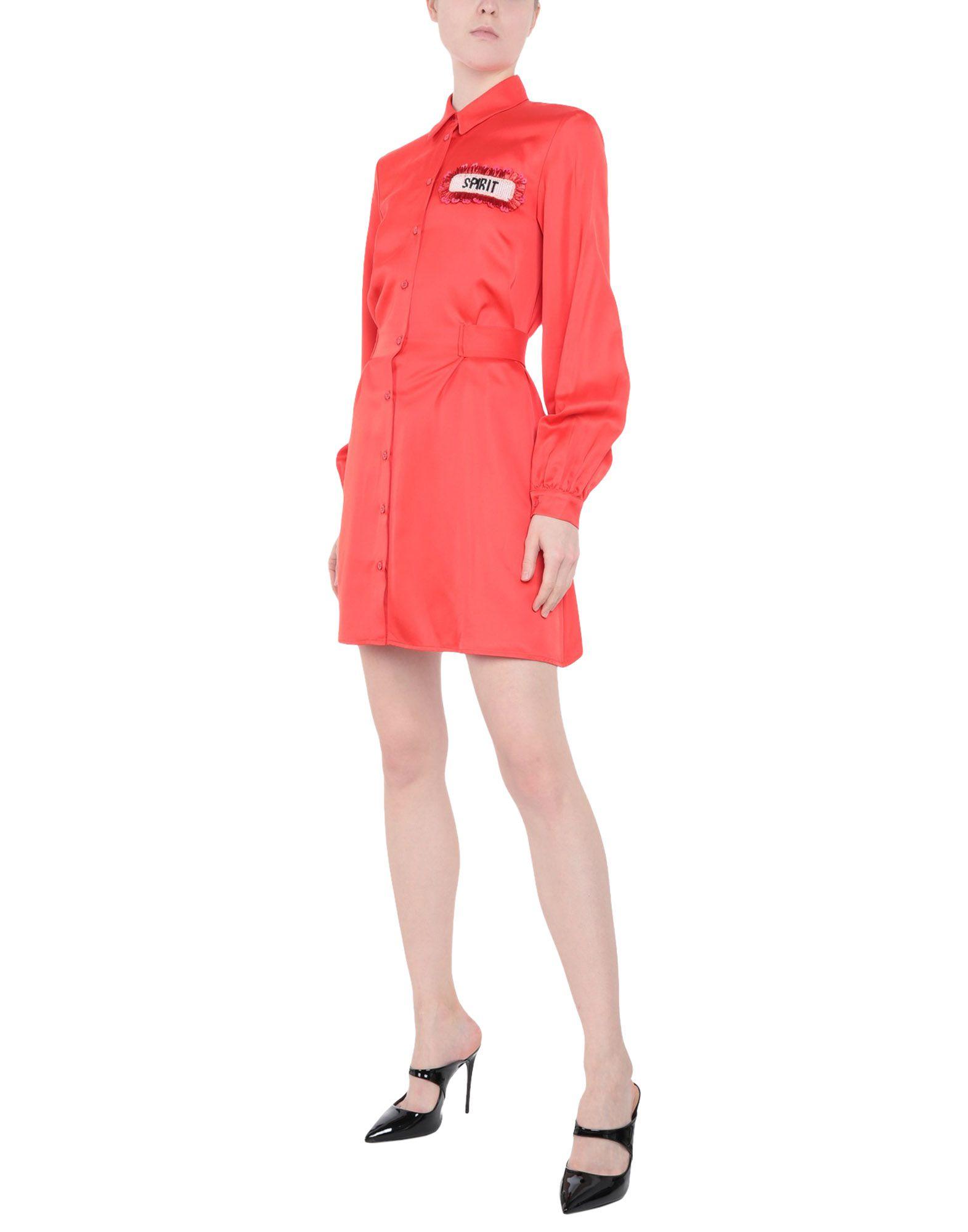 《送料無料》DONDUP レディース ミニワンピース&ドレス コーラル 40 レーヨン 100%
