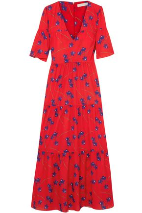 BORGO DE NOR Printed crepe de chine maxi dress