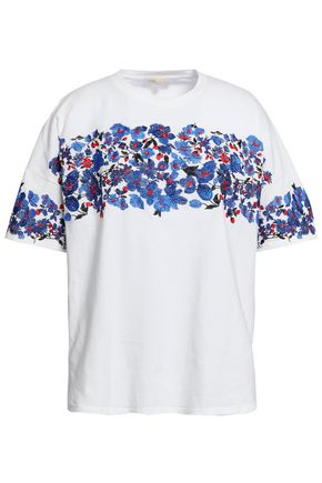 MAJE | Maje Embroidered Cotton-Jersey T-Shirt | Goxip