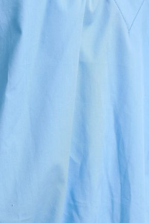MAJE Ruffled cotton-poplin top