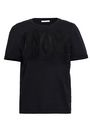 MAJE Corded lace-paneled cotton-jersey T-shirt