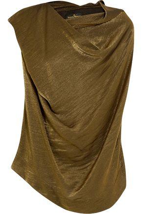 VIVIENNE WESTWOOD ANGLOMANIA Draped metallic satin-crepe top