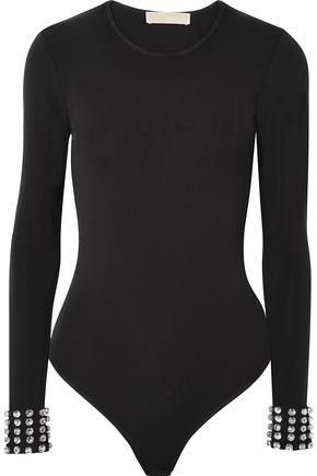 MICHAEL MICHAEL KORS Embellished stretch-jersey bodysuit