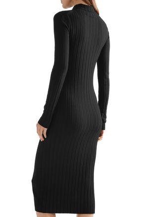 ab89e60fb0d ... THEORY Ribbed-knit turtleneck midi dress