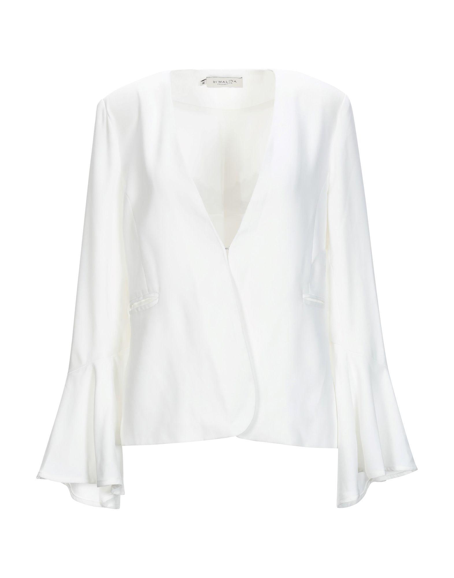 《セール開催中》BY MALINA レディース テーラードジャケット ホワイト M ポリエステル 95% / ポリウレタン 5%