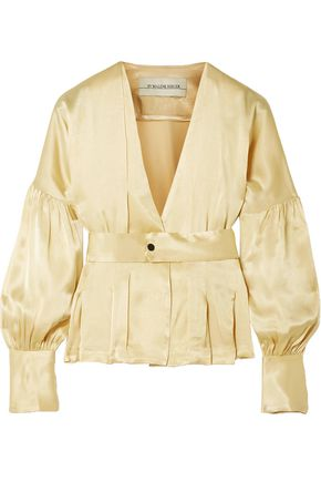 BY MALENE BIRGER Felipe belted washed-satin top
