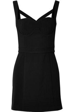 REBECCA VALLANCE Cutout stretch-crepe mini dress
