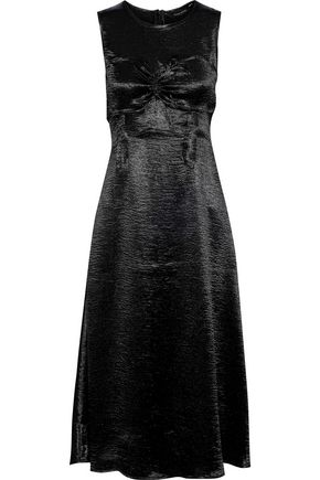 W118 by WALTER BAKER Cindy ruched crinkled-satin midi dress
