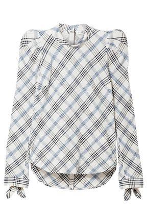 VERONICA BEARD Printed cotton-blend chiffon blouse