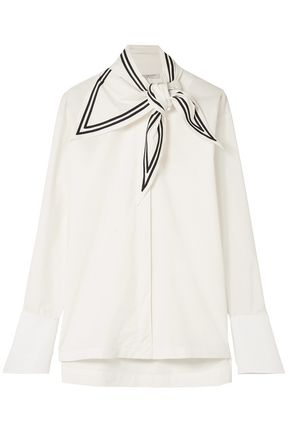 PHILOSOPHY di LORENZO SERAFINI Knotted cotton-poplin shirt