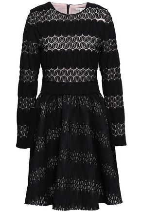 MAJE Relane flared crocheted mini dress