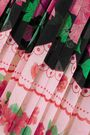 RAQUEL DINIZ Pleated printed silk-chiffon maxi dress