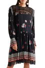 PHILOSOPHY di LORENZO SERAFINI Embroidered printed tulle dress