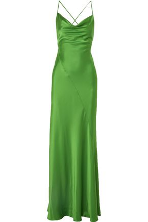 DIANE VON FURSTENBERG Satin maxi slip dress