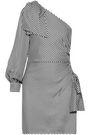 ZIMMERMANN One-shoulder striped jacquard mini dress