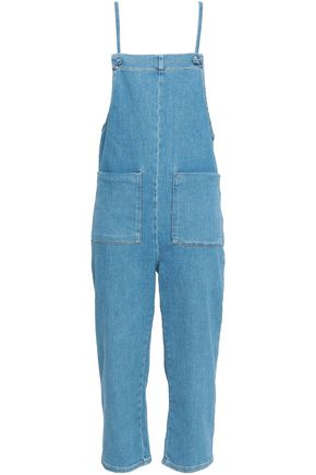 MAJE Cropped denim overalls
