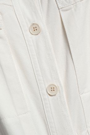 MAJE Pretty cropped denim jumpsuit