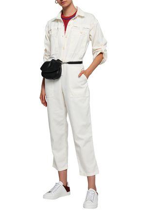 7f14a464df1 MAJE Pretty cropped denim jumpsuit