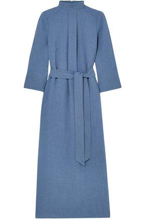 CEFINN Belted woven midi dress