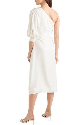 DEITAS One-shoulder silk midi dress