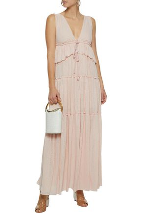 1b7fa2934b8 SEE BY CHLOÉ Tiered voile maxi dress