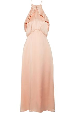 ZIMMERMANN Ruffled silk-satin midi dress