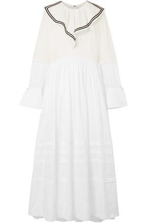 PHILOSOPHY di LORENZO SERAFINI Paneled cotton maxi dress