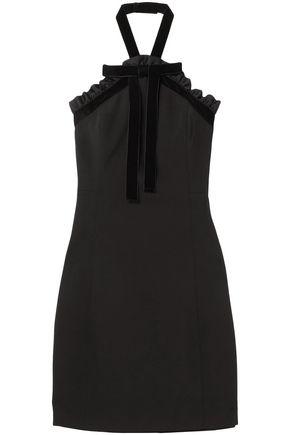 MICHAEL MICHAEL KORS Embellished twill halterneck mini dress