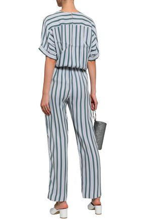 MAJE Pando striped twill jumpsuit