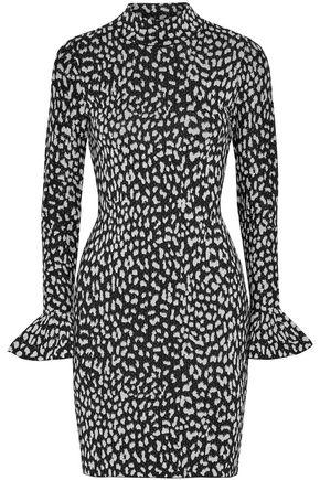 MICHAEL KORS Leopard-print jacquard-knit mini dress
