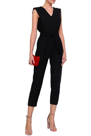 a8b069410a2 MAJE Belted cotton-blend jumpsuit