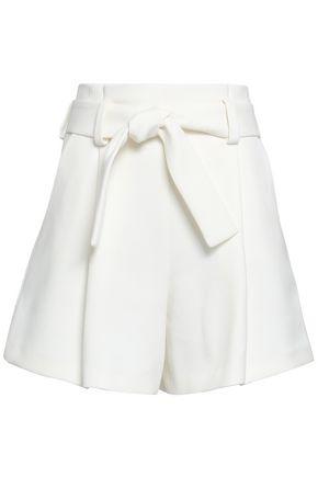 MAJE Stretch-crepe shorts